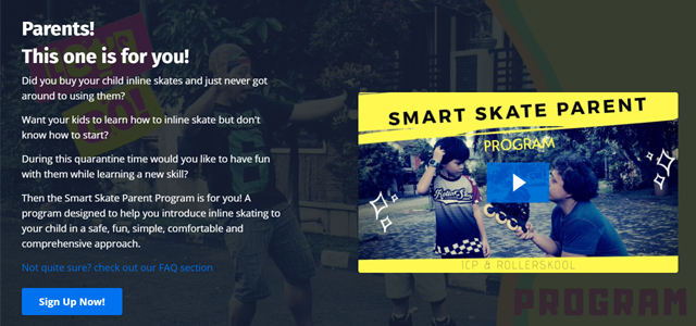 Teach your child to Inline Skate Online with us and ICP through th Smart Skate Parent Program